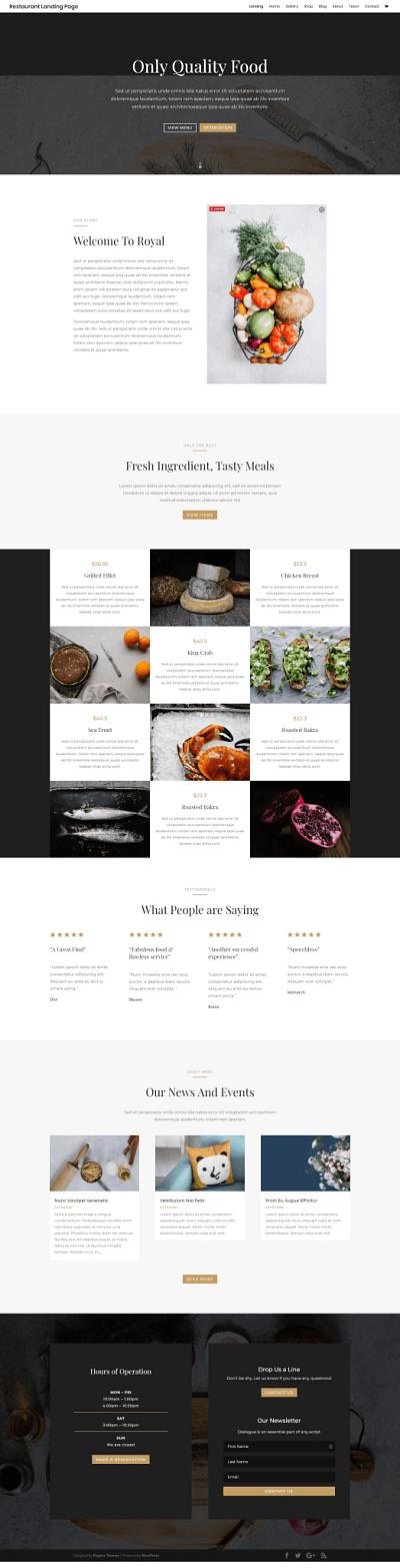 Pagina web para restaurantes
